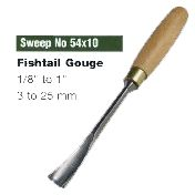Fishtail Gouges (Sweep No.54x10)