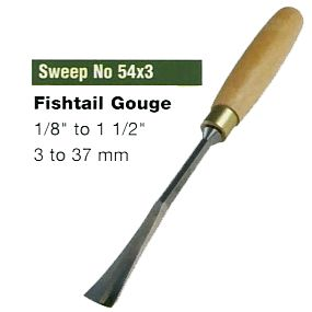 Fishtail Gouges (Sweep No.54x3)